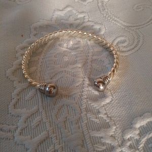 Jewelry - A Nice Silvertone Cuff Bracelet